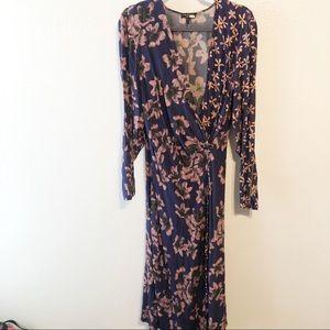 Rag & bone Odette purple faux wrap dress size 8